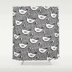 Graphic Swan Shower Curtain