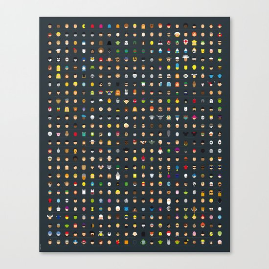 Famous Capsules - THE VERY BIG ONE Canvas Print