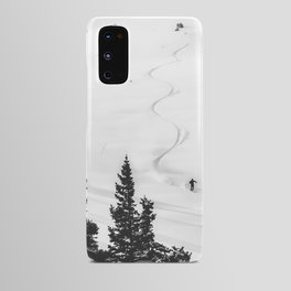 Backcountry Skier // Fresh Powder Snow Mountain Ski Landscape Black and White Photography Vibes Android Case