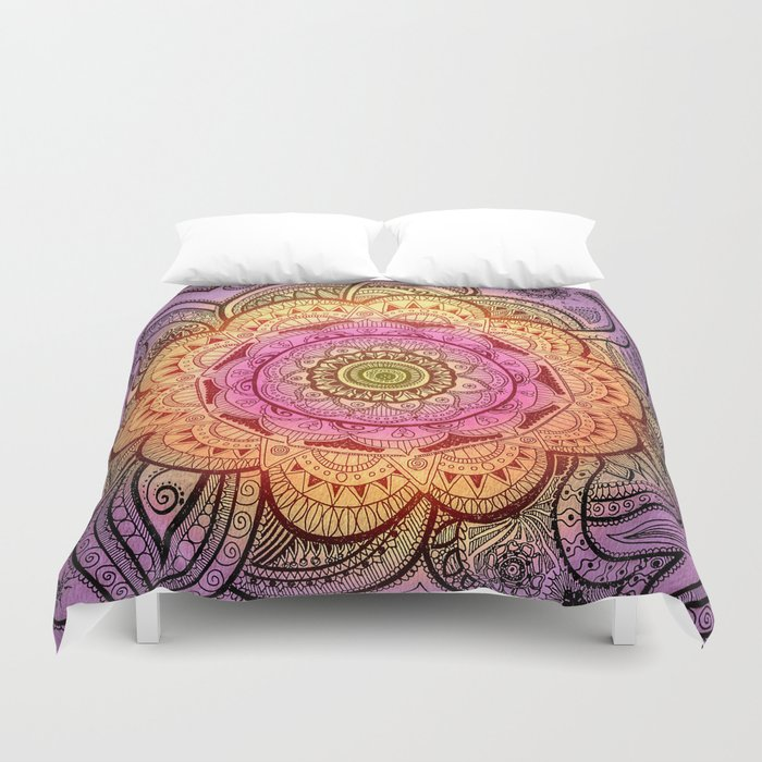 Colorful Mandala Duvet Cover