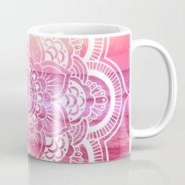 Water Mandala Hot Pink Fuchsia Coffee Mug