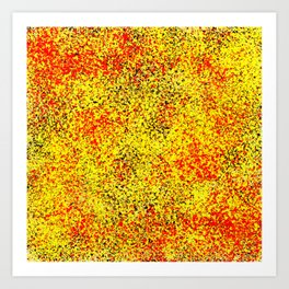 Flame - Abstract, red, yellow and black artistic representation of fire Art Print