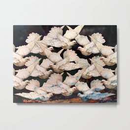 White Doves Metal Print