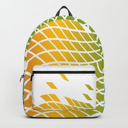 RED, GREEN, BLUE TILES Abstract Art Backpack