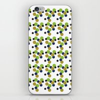 gold dots iPhone & iPod Skins featuring Dots by Laura Huebner