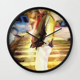 Patrick crosses Mott Street, New York City Wall Clock
