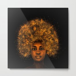 Stardust - African American Portrait Painting of a Young Woman Metal Print