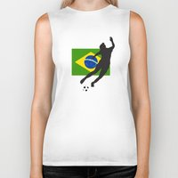 brazil Biker Tanks featuring Brazil - WWC by Alrkeaton