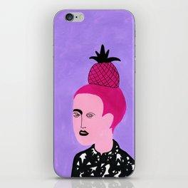 Pineapple hair iPhone Skin