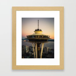 Space Needle (close-up) Framed Art Print