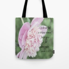 Proverbs 31 Above Rubies Tote Bag