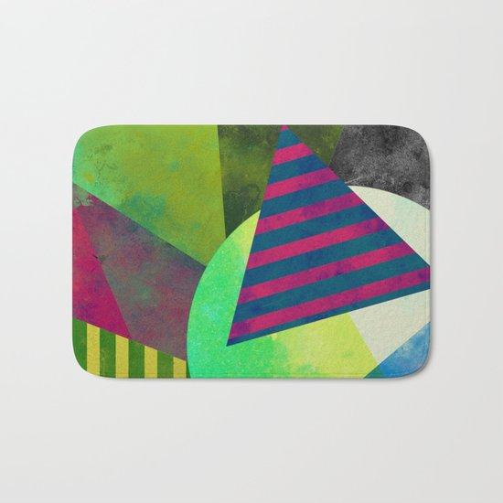 Textured Shapes - Abstract, geometric artwork Bath Mat