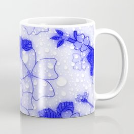 Floral Design EMMY blue Coffee Mug