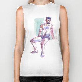 ED, Semi-Nude Male by Frank-Joseph Biker Tank