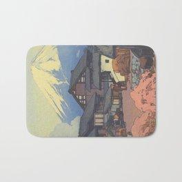 Hiroshi Yoshida, Artworks, Mt Fuji, Original Japanese Woodblock Print, Landscape Bath Mat