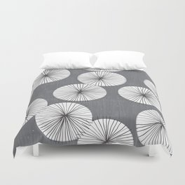 Umbrellas by Friztin Duvet Cover