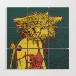 Third eye cat Wood Wall Art
