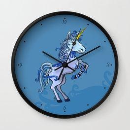 Happy Unicorn Power Wall Clock