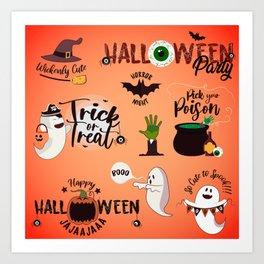 Halloween Quotes & Sayings Art Print