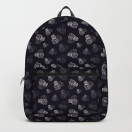 Dark rose pattern Backpack