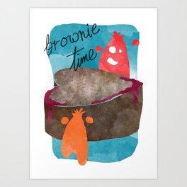 Brownie Time Art Print