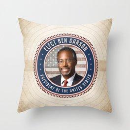 Vote Ben Carson Throw Pillow