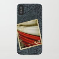 poland iPhone & iPod Cases featuring STICKER OF POLAND flag by Lulla