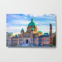 Victoria Parliament Building, BC Canada Metal Print