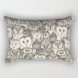 just owls natural Rectangular Pillow