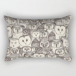 just owls natural Rectangular Pillow