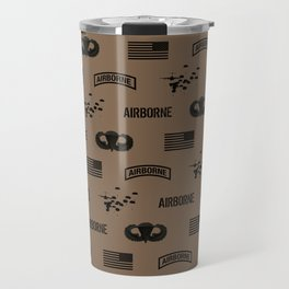 Airborne Pattern (Brown) Travel Mug
