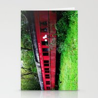 ohio Stationery Cards featuring Ohio Train  by Jean Dougherty