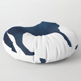 Horse - Two - Dark Blue Floor Pillow