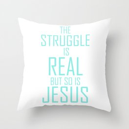 Jesus is Real Christian Throw Pillow