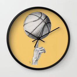 Basketball spin orange Wall Clock