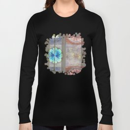 Intercuts Spacing Flowers  ID:16165-035402-83141 Long Sleeve T-shirt