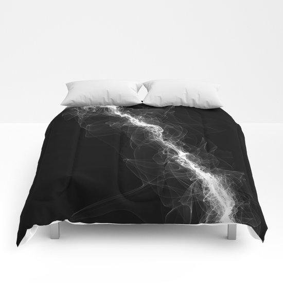 Smoke White Comforters