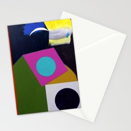 African American Masterpiece 'Joyful Abstraction' abstract landscape painting by E.J. Martin Stationery Cards