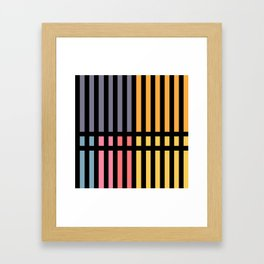 Abstract Lines and Pantone Framed Art Print