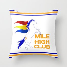 Mile High Club Throw Pillow