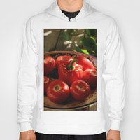 vegetables Hoodies featuring Red vegetables by Svetlana Korneliuk