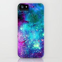 purple pink blue nebula iPhone Case