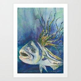 Roosterfish Art Print