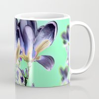 aelwen Mugs featuring MAGNOLIA - PopArt by CAPTAINSILVA