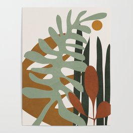 Abstract Plant Life III Poster