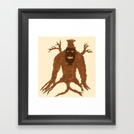 Tree Stitch Monster Framed Art Print