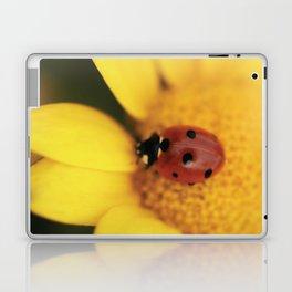 Ladybug on yellow flower - macro still life - fine art photo for interior design Laptop & iPad Skin