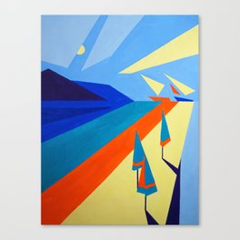 """On the Coast"" painting by Diana Grigoryeva Canvas Print"