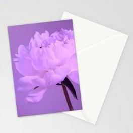 Single peony (ultra violet) Stationery Cards