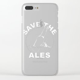 SAVE THE WH-ALES Clear iPhone Case
